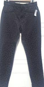 🎉Gap|Skinny Ankle|Animal Print|Black|Size 4
